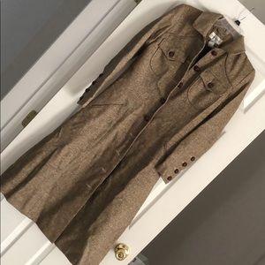 Gold shimmer long dress coat